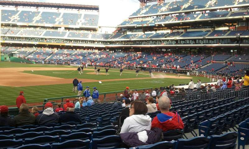 Seating view for Citizens Bank Park Section 134 Row 20 Seat 7