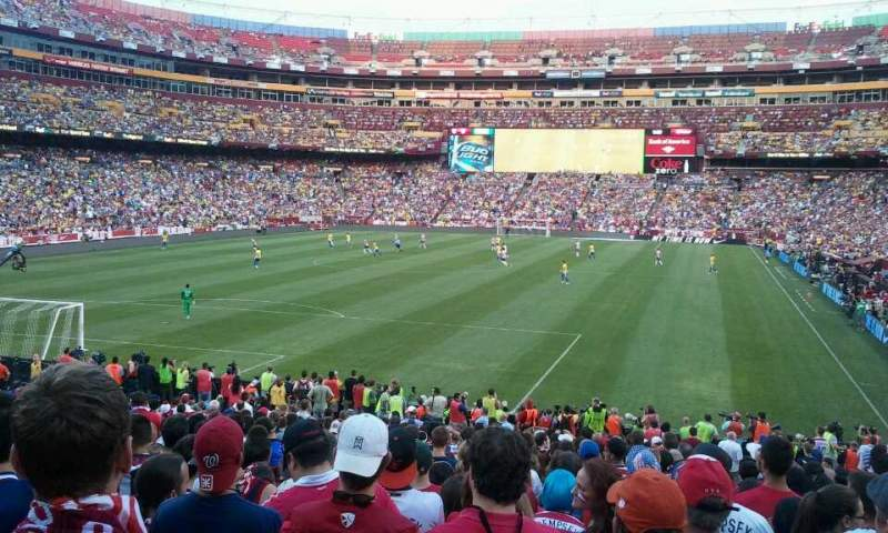 Seating view for FedEx Field Section 109 Row 22 Seat 9