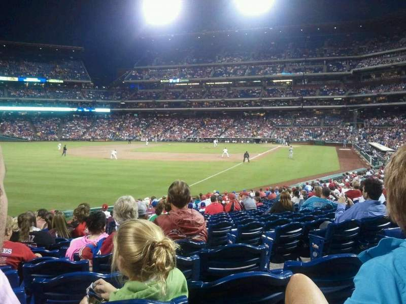 Seating view for Citizens Bank Park Section 139 Row 25 Seat 4