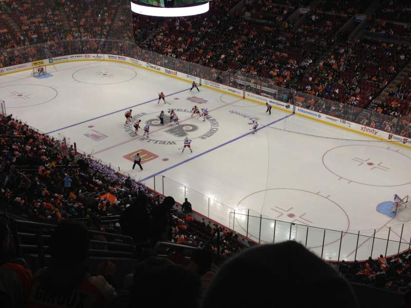 Seating view for Wells Fargo Center Section 204A Row 11 Seat 7