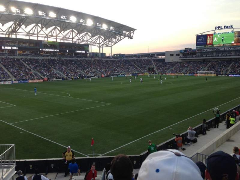 Seating view for Talen Energy Stadium Section 133 Row N Seat 12