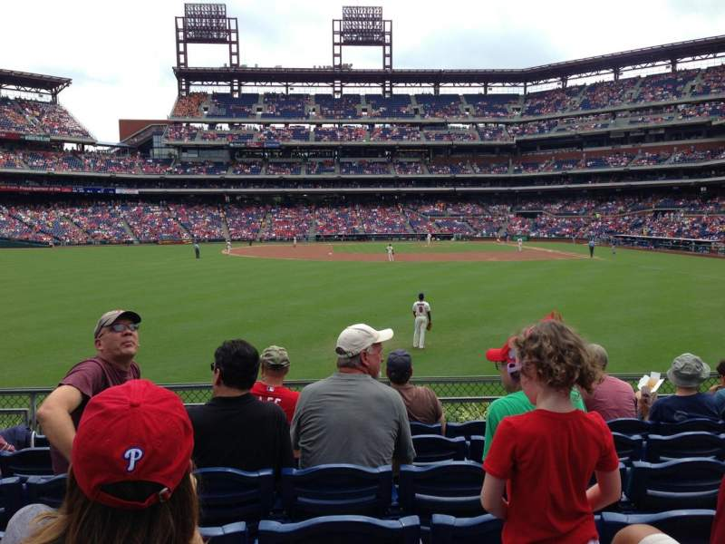 Seating view for Citizens Bank Park Section 143 Row 7 Seat 15