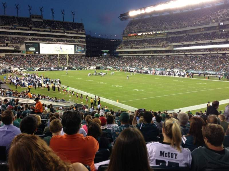 Seating view for Lincoln Financial Field Section 126 Row 26