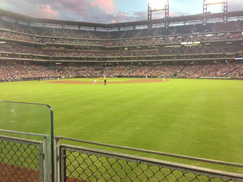 Seating view for Citizens Bank Park Section 101 Row 2 Seat 11