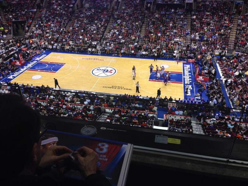 Seating view for Wells Fargo Center Section 202 Row 2 Seat 14