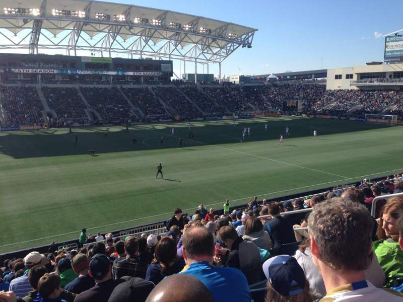 Seating view for Talen Energy Stadium Section 130 Row Y Seat 10