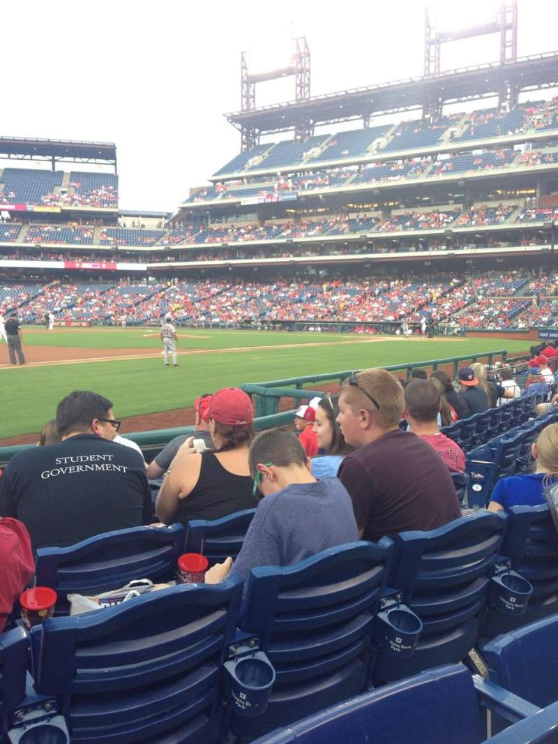 Seating view for Citizens Bank Park Section 134 Row 7 Seat 7