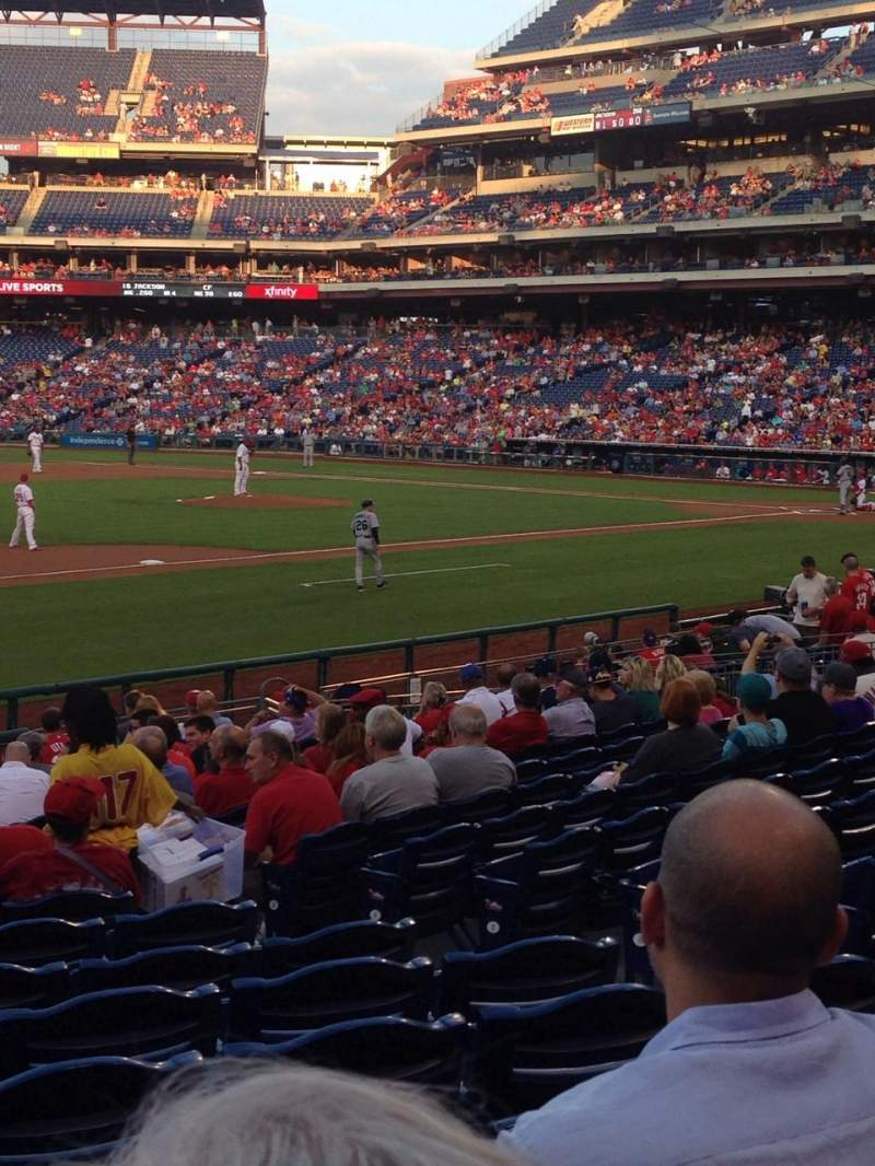 Seating view for Citizens Bank Park Section 126 Row 20 Seat 7
