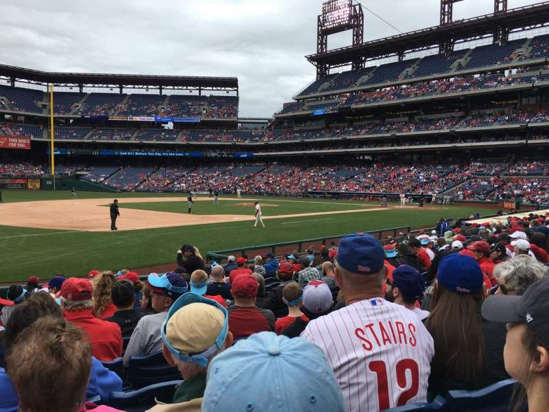 Seating view for Citizens Bank Park Section 134 Row 14 Seat 8