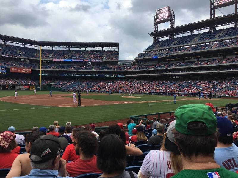 Seating view for Citizens Bank Park Section 134 Row 11 Seat 9