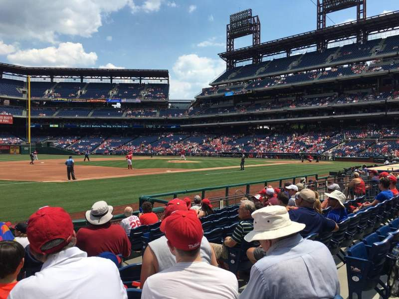 Seating view for Citizens Bank Park Section 134 Row 10 Seat 4