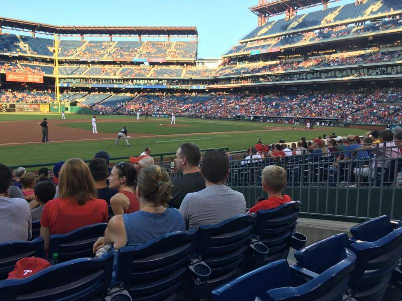 Seating view for Citizens Bank Park Section 133 Row 14 Seat 5