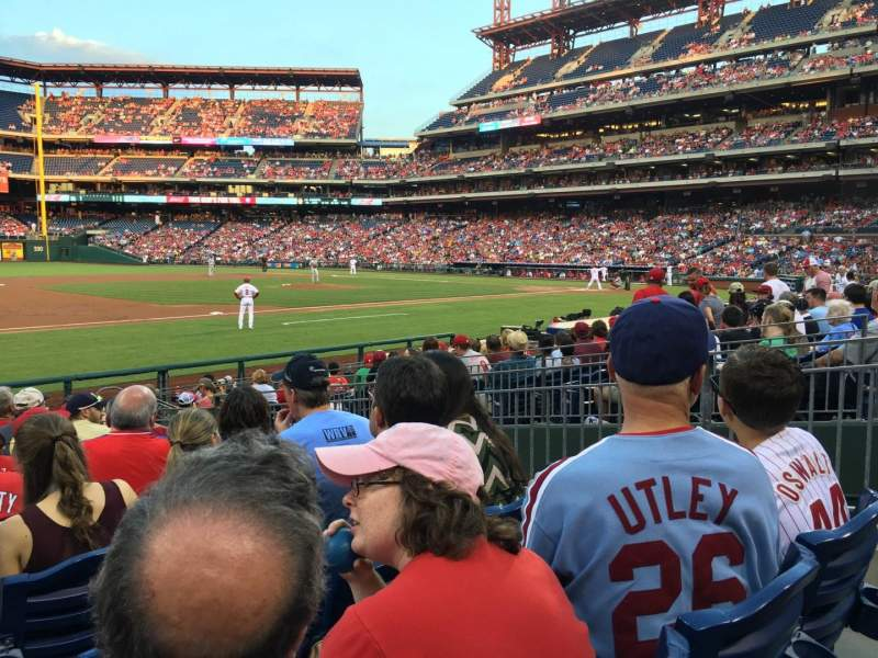 Seating view for Citizens Bank Park Section 133 Row 13 Seat 5