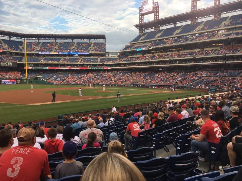 Seating view for Citizens Bank Park Section 134 Row 20 Seat 6