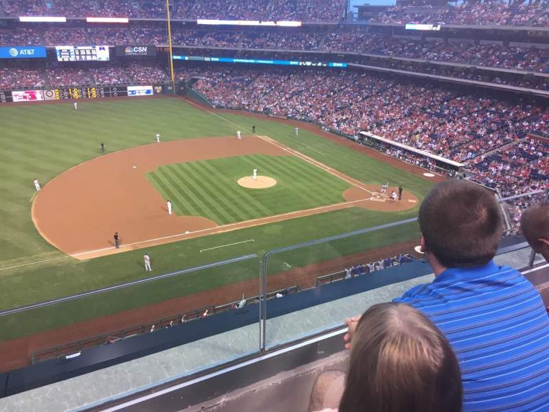 Seating view for Citizens Bank Park Section 327 Row 2 Seat 20