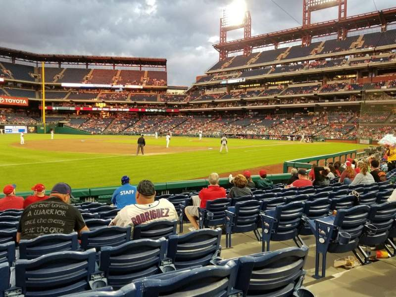 Citizens Bank Park, section: 135, row: 10, seat: 3