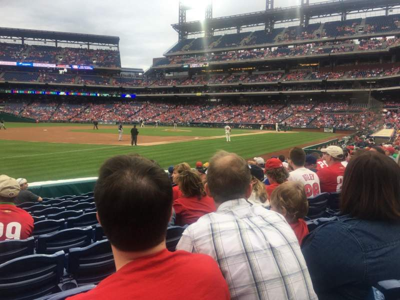 Seating view for Citizens Bank Park Section 135 Row 11 Seat 15