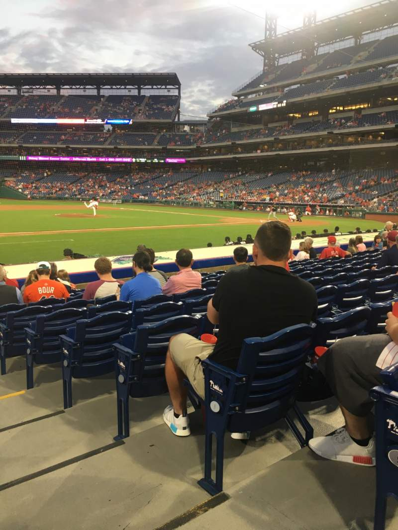 Seating view for Citizens Bank Park Section 132 Row 10 Seat 1