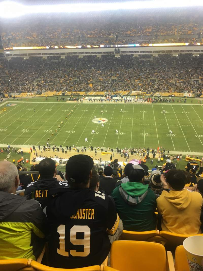 Seating view for Heinz Field Section 536 Row P Seat 23