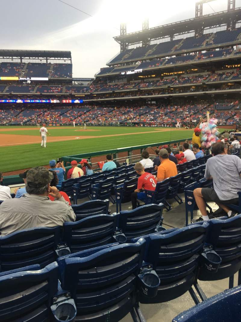 Seating view for Citizens Bank Park Section 134 Row 10 Seat 5
