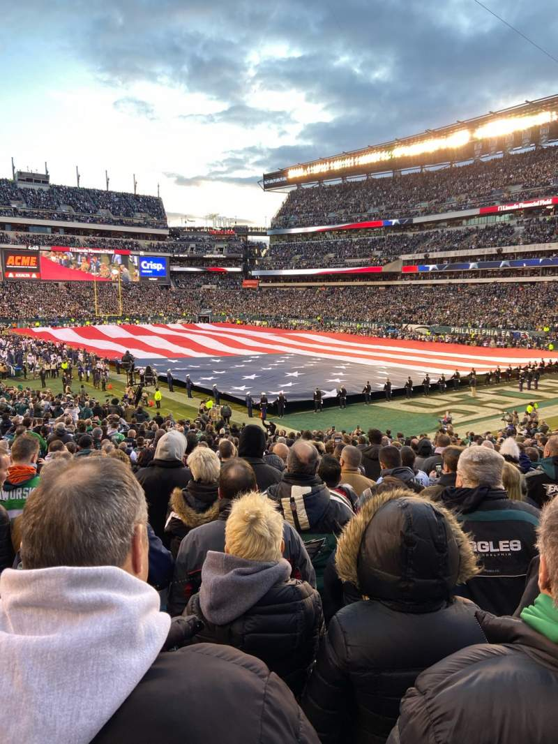 Seating view for Lincoln Financial Field Section 126 Row 26 Seat 9