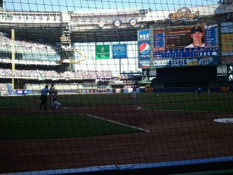 Seating view for Miller Park Section 116 Row 2 Seat 7