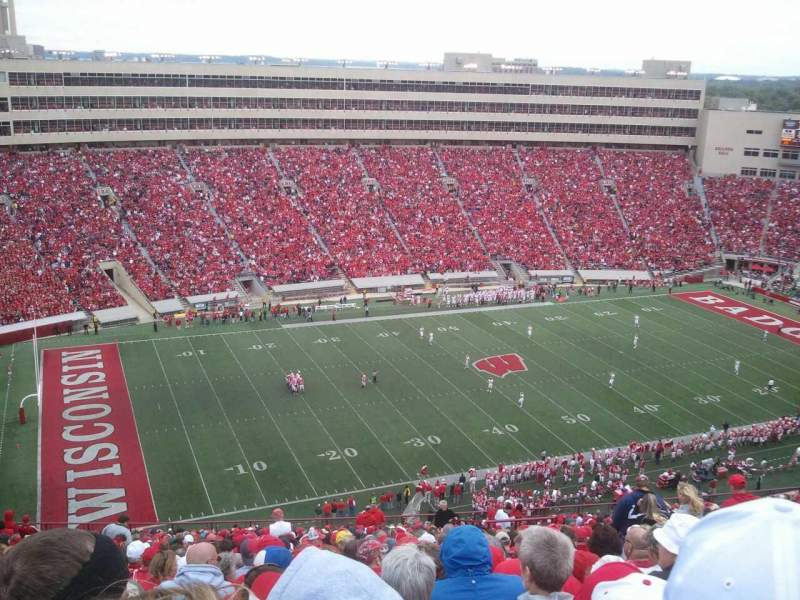 camp randall stadium section ii row 40 seat 7 wisconsin. Black Bedroom Furniture Sets. Home Design Ideas