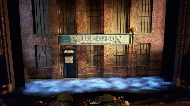 Seating view for Al Hirschfeld Theatre Section MezzC Row A Seat 109