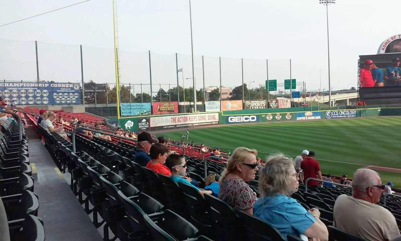 Seating view for Coca-Cola Field Section 111 Row U Seat 28
