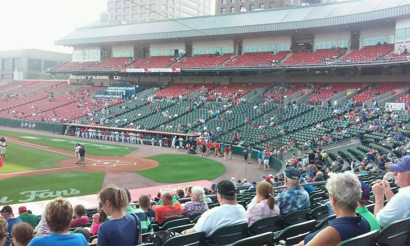 Seating view for Coca-Cola Field Section 111 Row U Seat 18