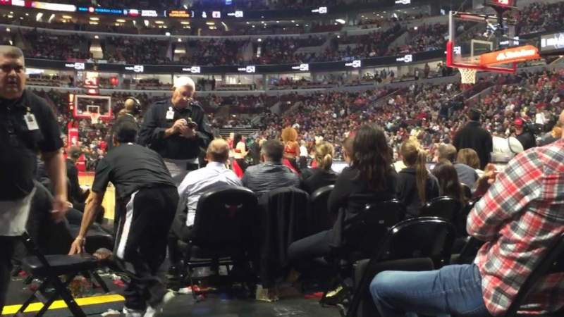 Seating view for United Center Section 109 Row A Seat 1