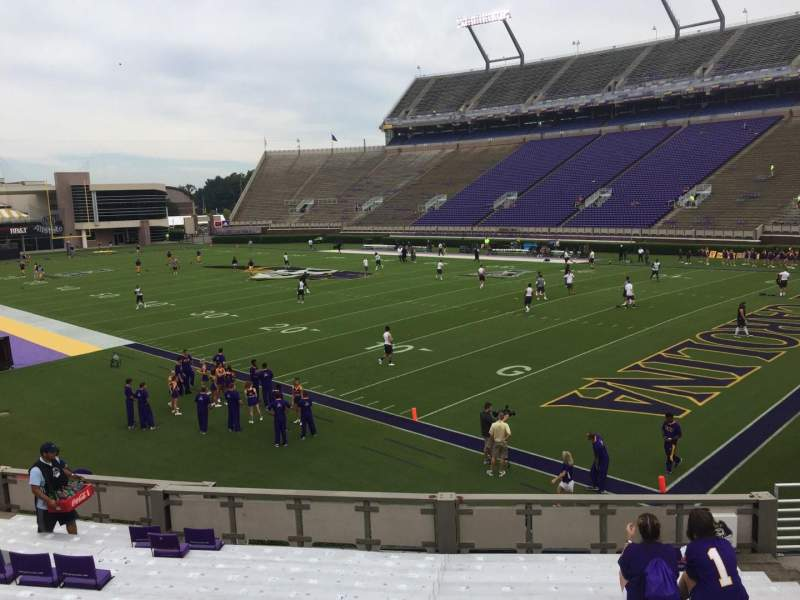 Seating view for Dowdy-Ficklen Stadium Section 1 Row S Seat 9