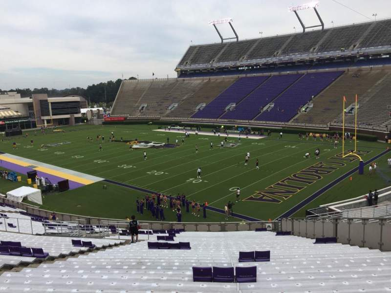 Seating view for Dowdy-Ficklen Stadium Section 1 Row SS Seat 15