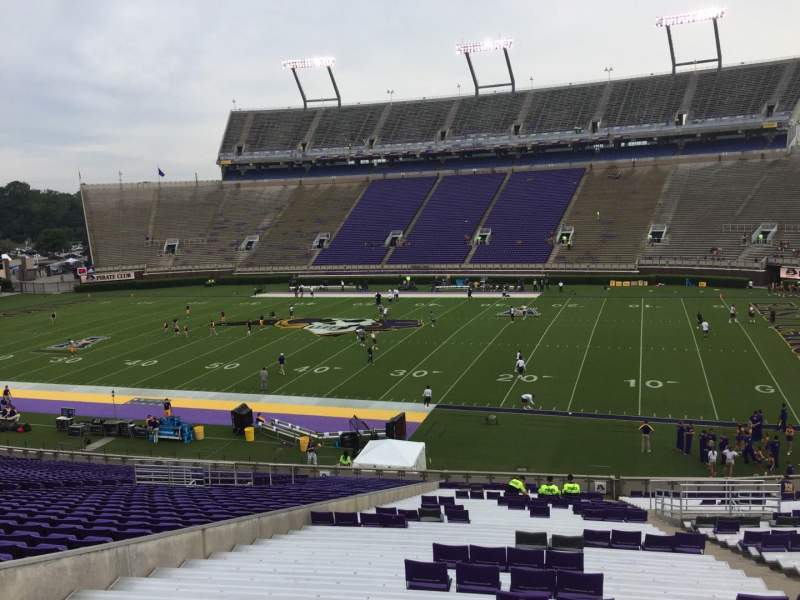 Seating view for Dowdy-Ficklen Stadium Section 4A Row SS Seat 7
