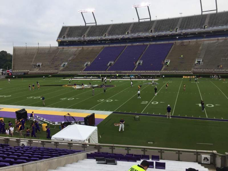 Seating view for Dowdy-Ficklen Stadium Section 4A Row S Seat 5