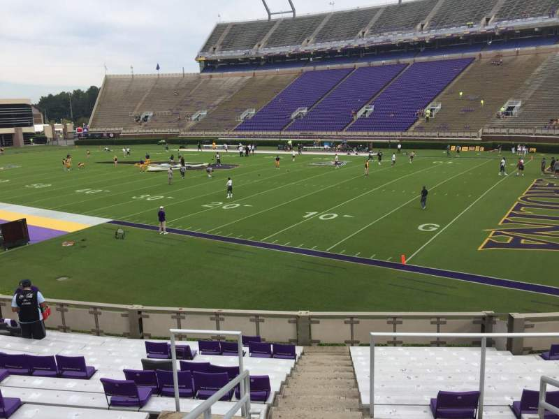 Seating view for Dowdy-Ficklen Stadium Section 2 Row S Seat 10