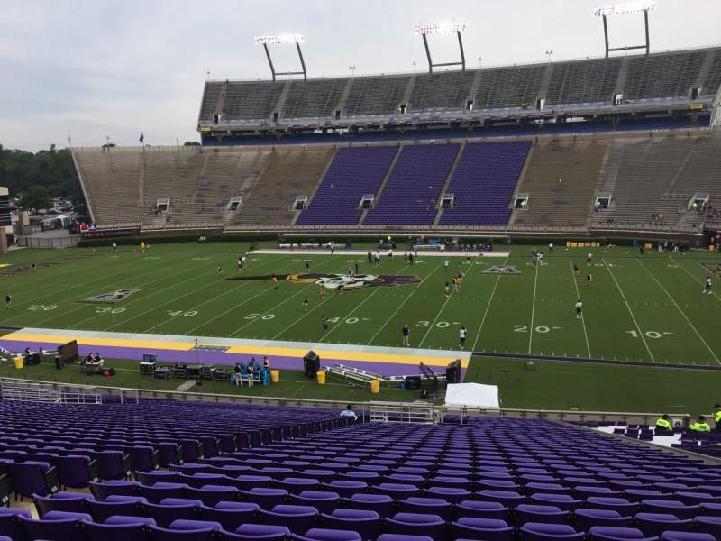 Seating view for Dowdy-Ficklen Stadium Section 4B Row PP Seat 24