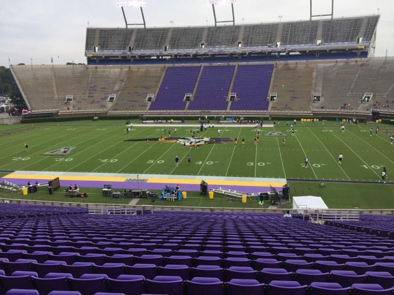Seating view for Dowdy-Ficklen Stadium Section 5 Row PP Seat 10