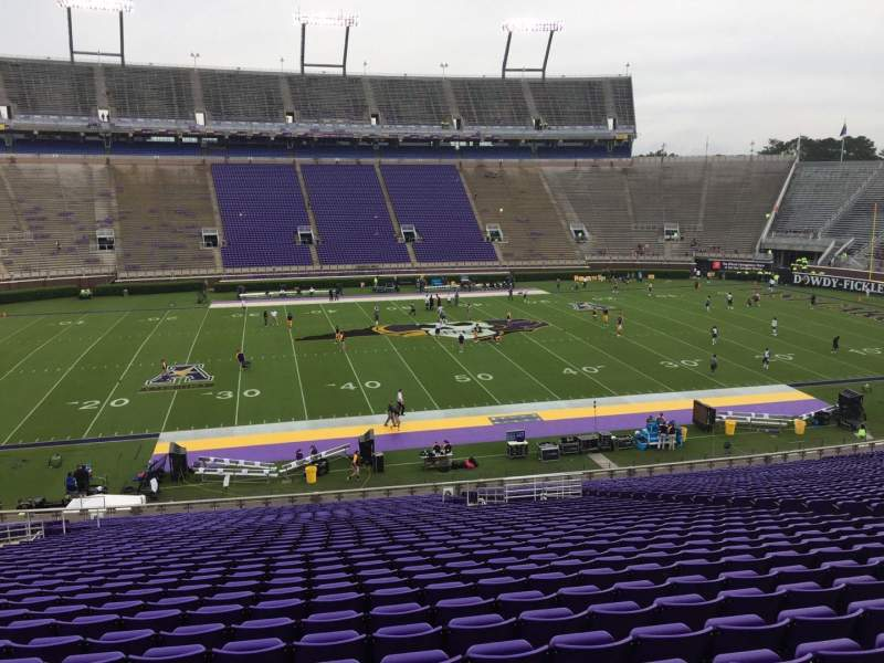 Seating view for Dowdy-Ficklen Stadium Section 7 Row OO Seat 17