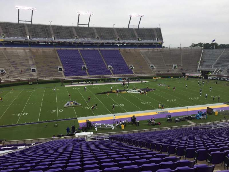 Seating view for Dowdy-Ficklen Stadium Section 8A Row OO Seat 6