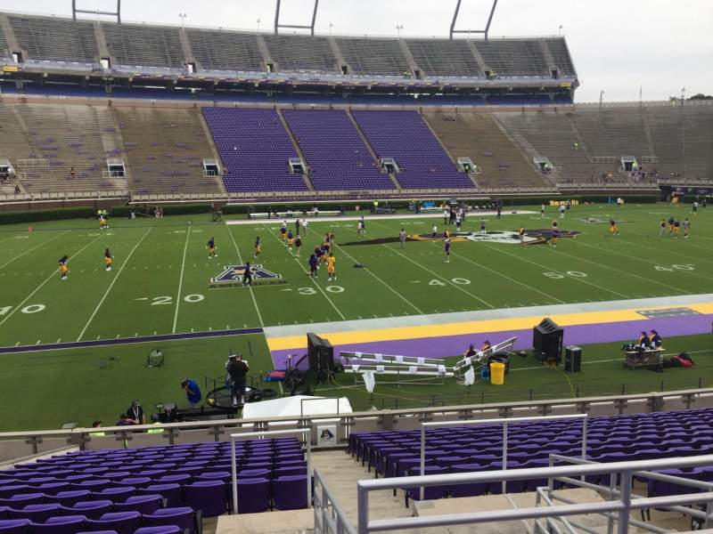 Seating view for Dowdy-Ficklen Stadium Section 8A Row S Seat 5