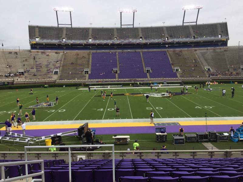 Seating view for Dowdy-Ficklen Stadium Section 6 Row P Seat 26
