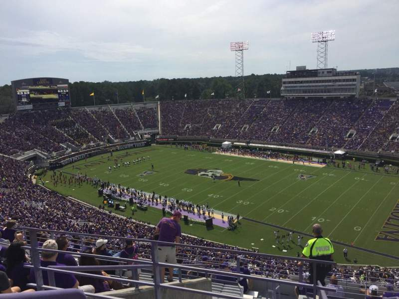Seating view for Dowdy-Ficklen Stadium Section 213 Row K Seat 9