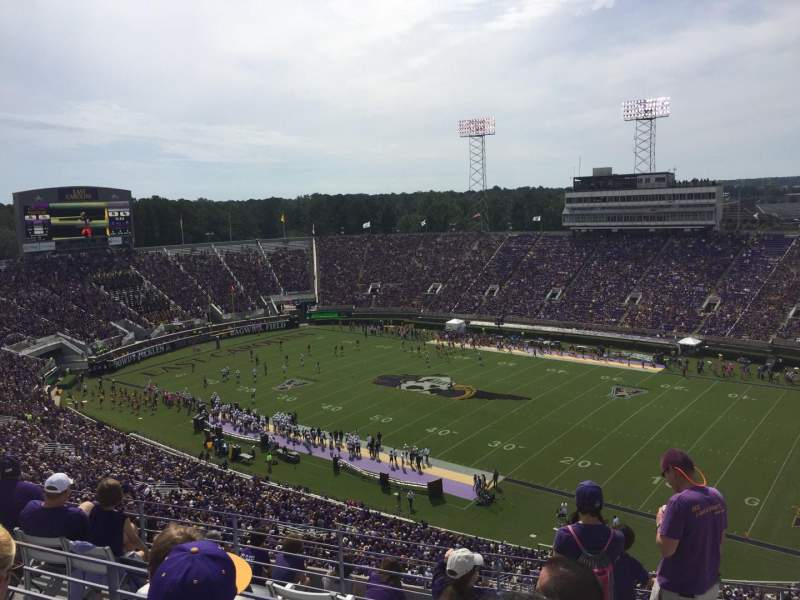 Seating view for Dowdy-Ficklen Stadium Section 214 Row H Seat 2