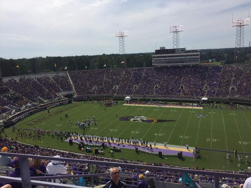 Seating view for Dowdy-Ficklen Stadium Section 215 Row J Seat 35