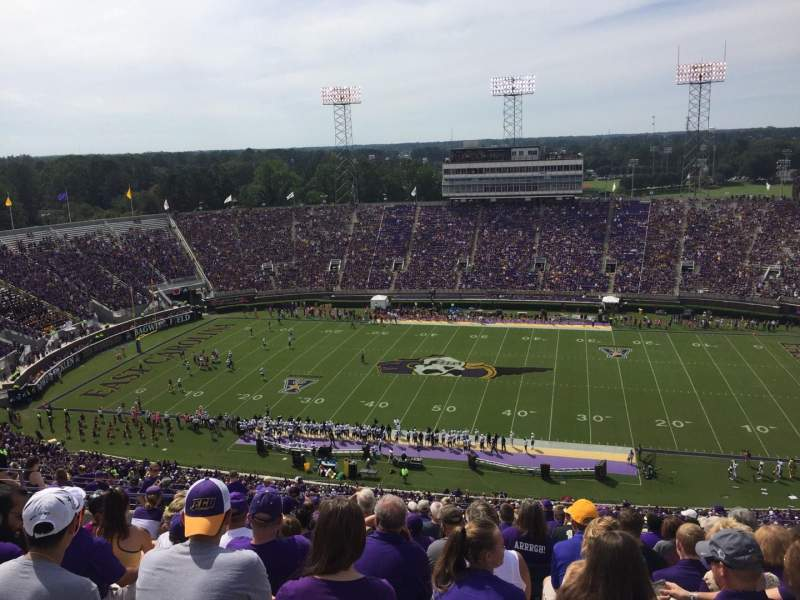 Seating view for Dowdy-Ficklen Stadium Section 216 Row S Seat 23