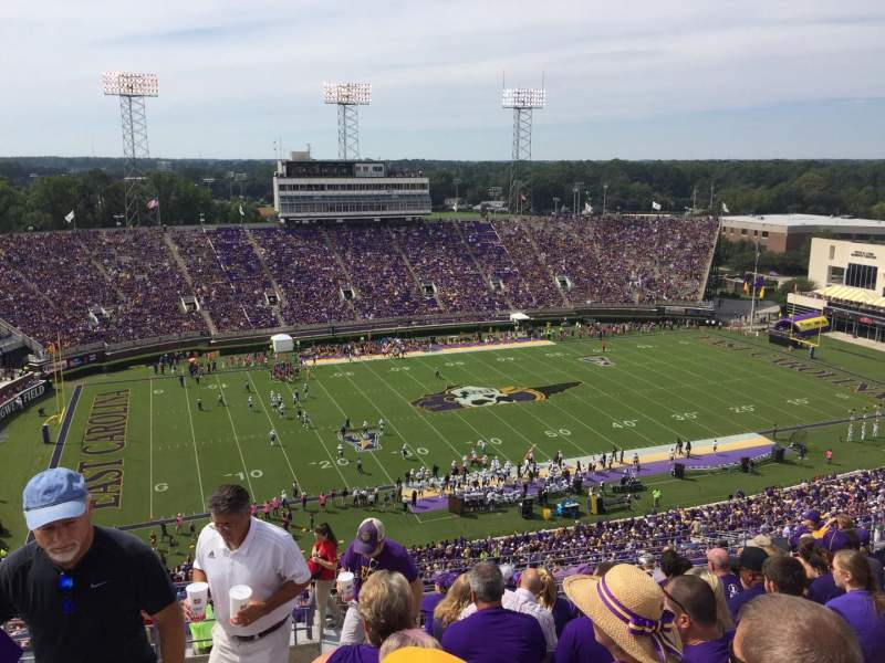 Seating view for Dowdy-Ficklen Stadium Section 219 Row O Seat 36