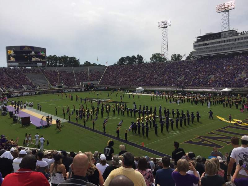 Seating view for Dowdy-Ficklen Stadium Section 12 Row T Seat 6