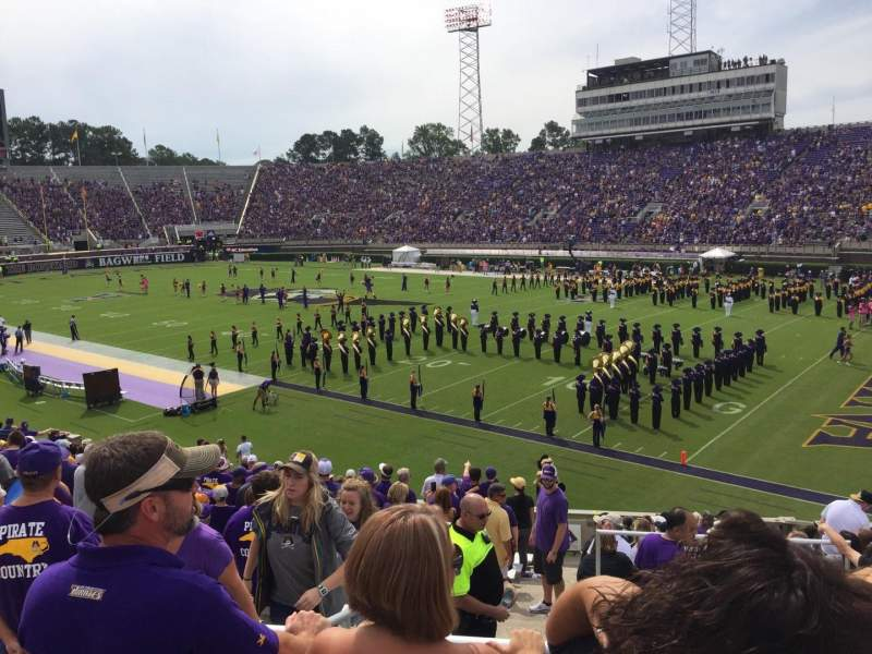 Seating view for Dowdy-Ficklen Stadium Section 13 Row T Seat 10