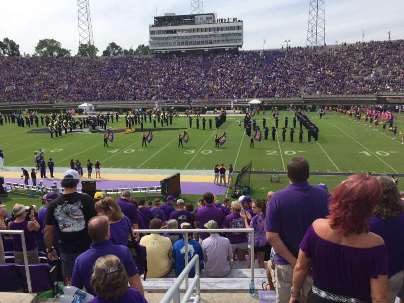 Seating view for Dowdy-Ficklen Stadium Section 15 Row Q Seat 25